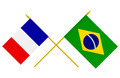 Flags of France and Brazil, 3d Render, Isolated - PhotoDune Item for Sale