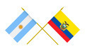 Flags of Argentina and Ecuador, 3d render, isolated - PhotoDune Item for Sale