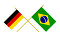 Flags of Brazil and Germany, 3d Render, Isolated - PhotoDune Item for Sale