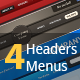4 Headers & Menu Color Combo! - GraphicRiver Item for Sale