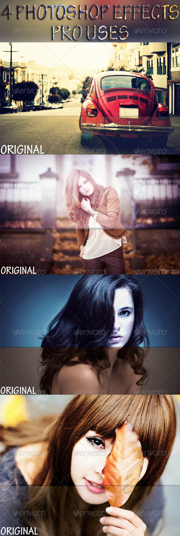 GraphicRiver 4 Photoshop Effects 8088204