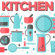 Kitchen and Cooking Utensils Flat Illustration - GraphicRiver Item for Sale