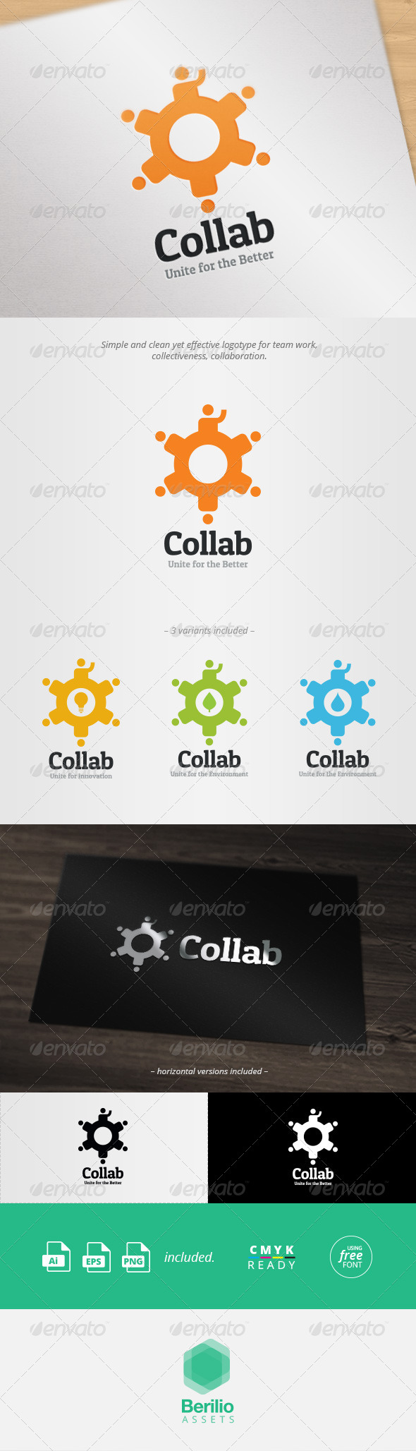 GraphicRiver Collaboration And Team Work Logo Template 8088395