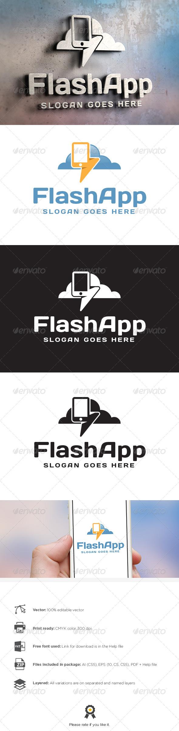 GraphicRiver Flash App Logo 8088546