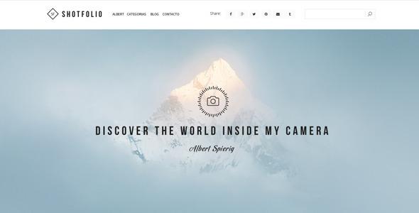 Shotfolio Theme - Portfolio Creative