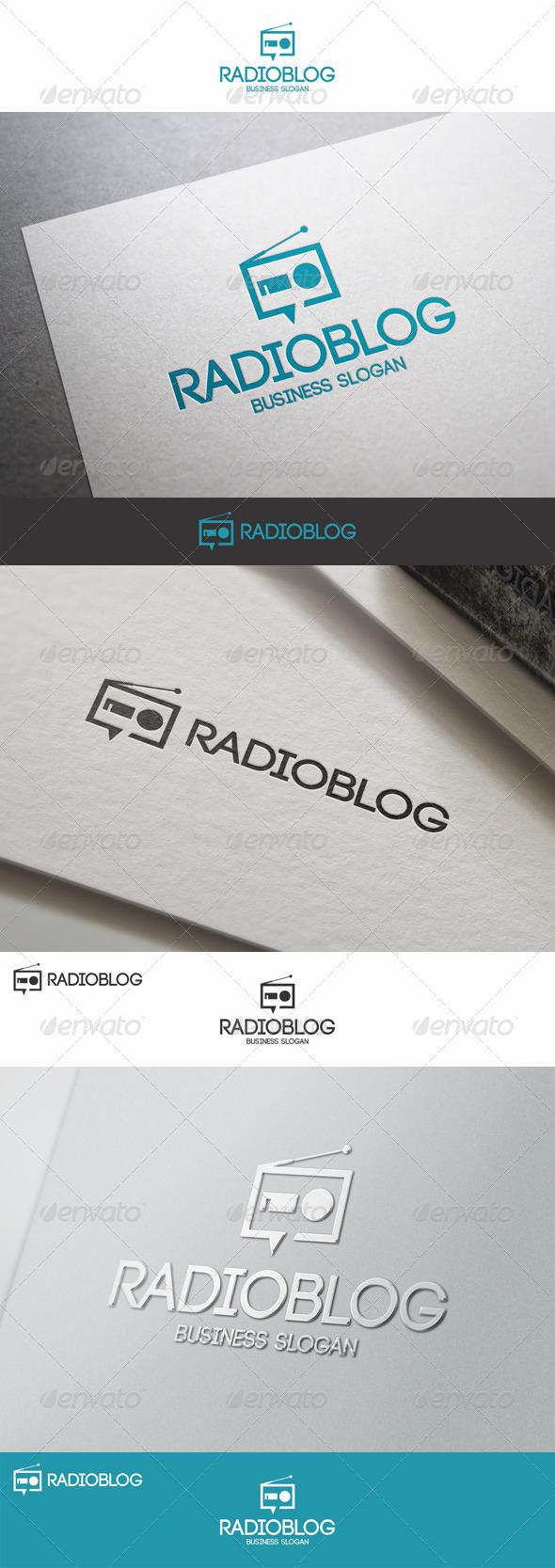 GraphicRiver Radio Blog Talk Logo 8088786
