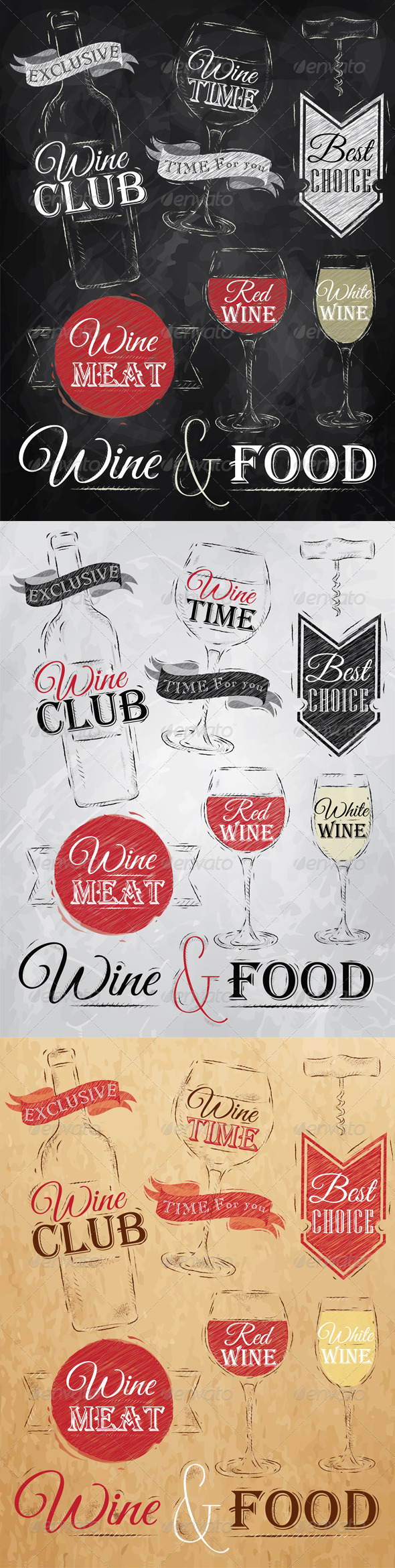 GraphicRiver Collection of Wine 8082758