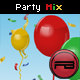 Confetti & Balloon party mix with depth and blur effect