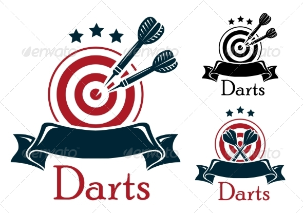 GraphicRiver Darts Sports Emblem 8088995