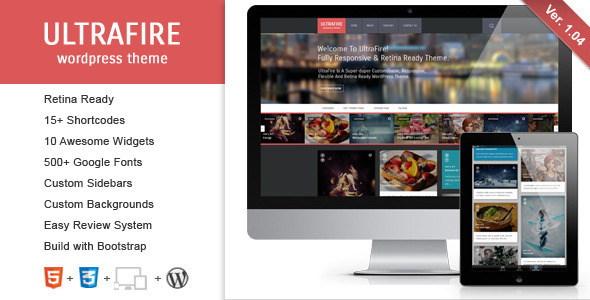 UltraFire - Retina Responsive WordPress Blog Theme - Blog / Magazine WordPress