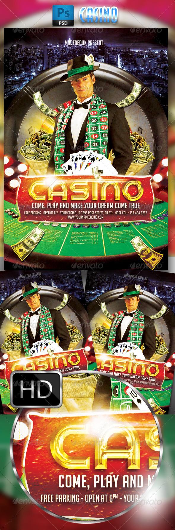 Casino Flyer Template #2