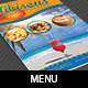 Caribbean Restaurant Bi-fold Menu Template - GraphicRiver Item for Sale