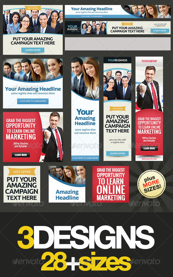 GraphicRiver Corporate Web Banner Set Bundle 10 8089533