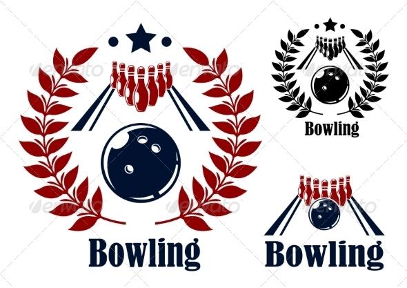 GraphicRiver Bowling Emblem 8089581
