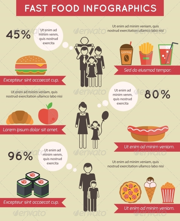 GraphicRiver Fast Food Infographic 8090453