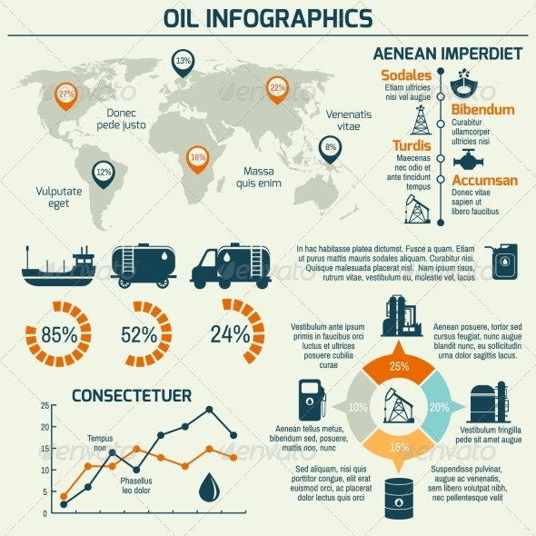 GraphicRiver Oil Industry Infographic 8090466