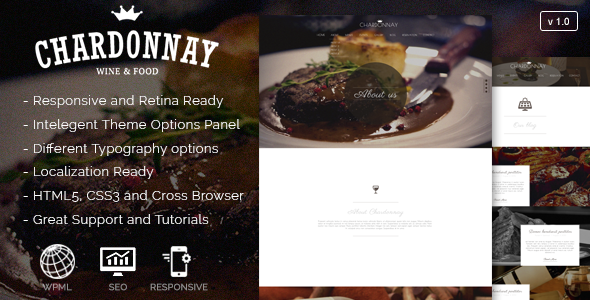 Chardonnay Responsive WordPress Theme - Food Retail