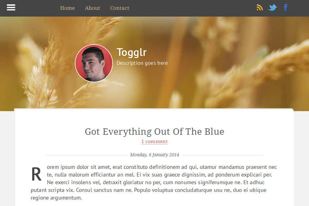Togglr - Clean Blogger Template