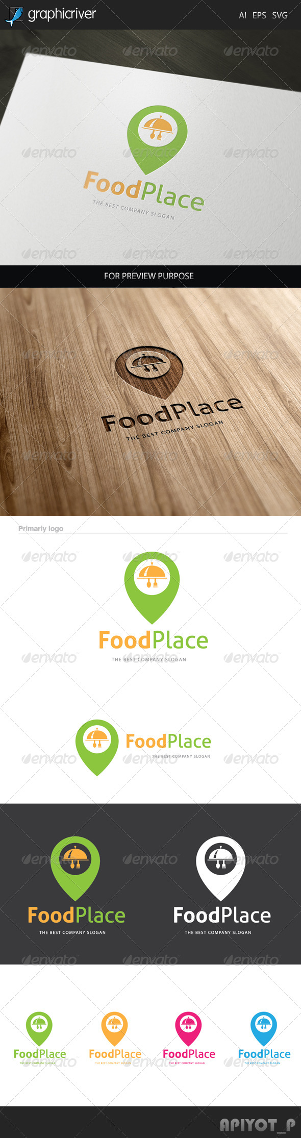 GraphicRiver Food Place Logo 8090668