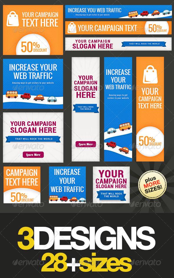 GraphicRiver Multipurpose Web Banner Design Bundle 7 8090688
