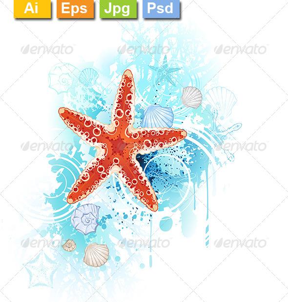 GraphicRiver Red Starfish 8091966