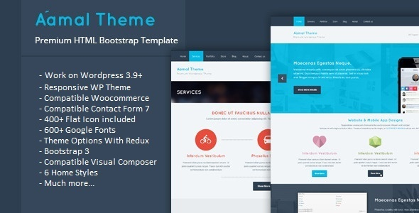 ThemeForest Aamal Responsive Multipurpose Wordpress Theme 8056789