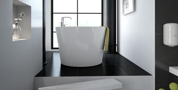 3DOcean Scandinavian Bathroom scene HDRI C4D Vray 8092104