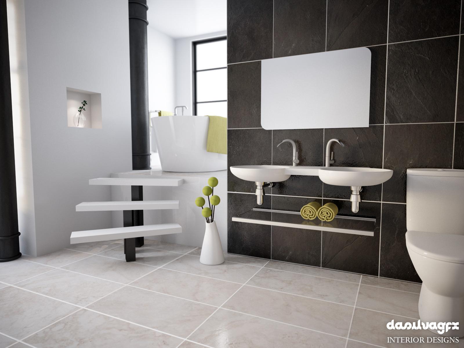 Scandinavian Bathroom Scene HDRI C4D Vray By MOCKUPRENDER
