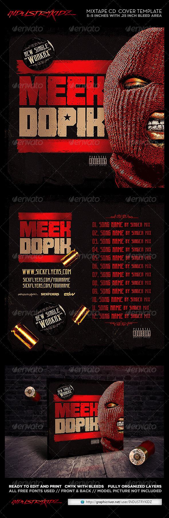GraphicRiver Mixtape Cover Template PSD Hip Hop 8092257