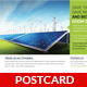 Renewable Energy Saving Postcard Template - GraphicRiver Item for Sale