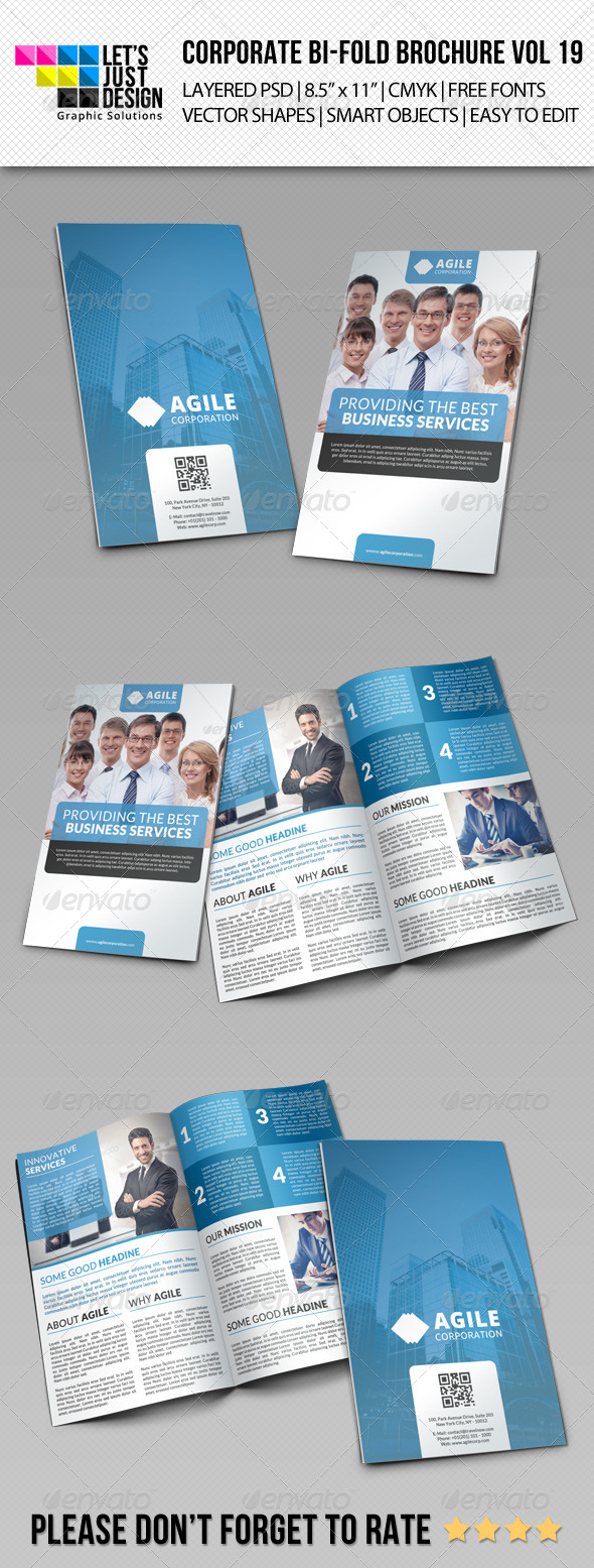 GraphicRiver Corporate Bi-Fold Brochure Vol 19 8092279