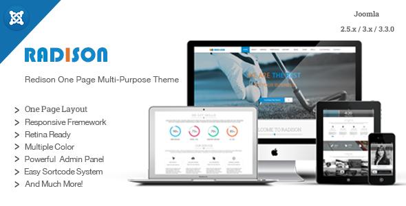 RadiSon | Responsive One Page Joomla Template - Portfolio Creative