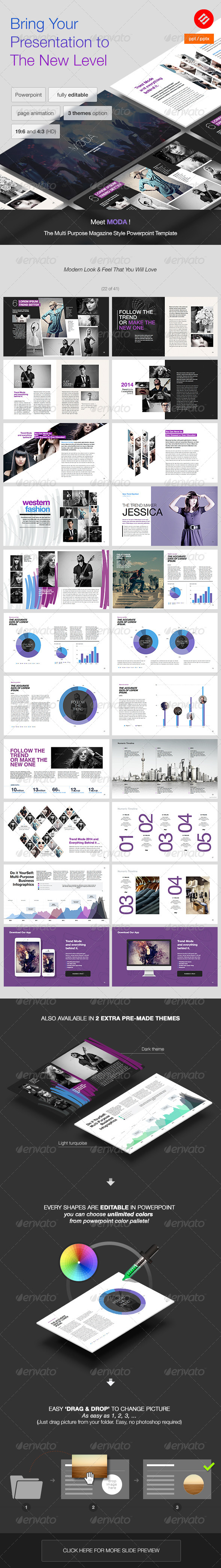 GraphicRiver MODA Modern Powerpoint Template 8080569