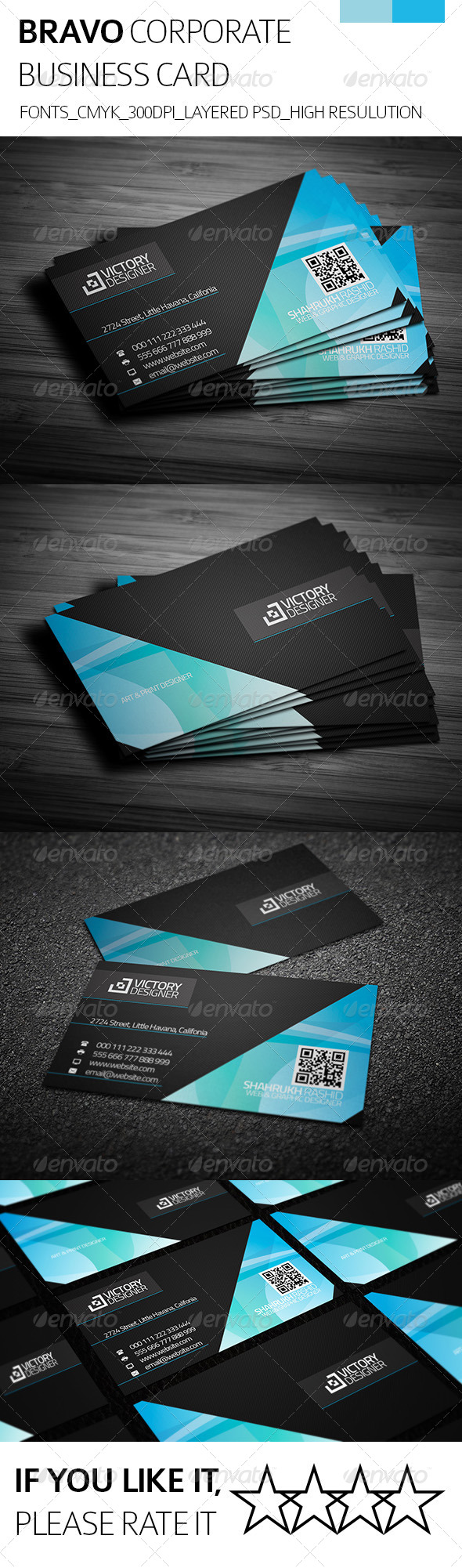 GraphicRiver Bravo & Corporate Business Card 8092317