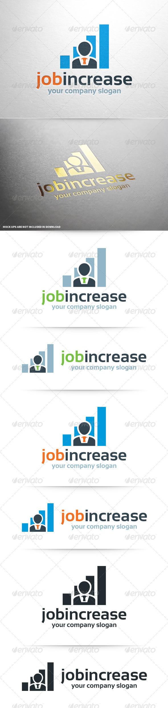 GraphicRiver Job Increase Logo Template 8092589