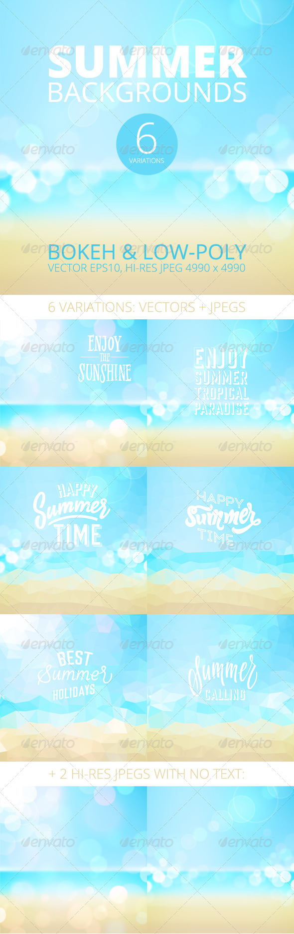 GraphicRiver Summer Holiday Tropical Beach Background 8093332