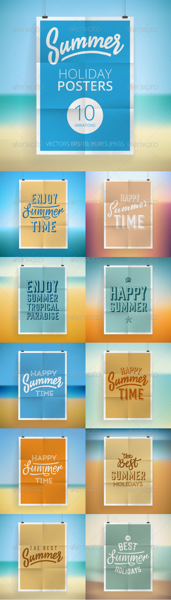 GraphicRiver Summer Holiday Posters 8093976