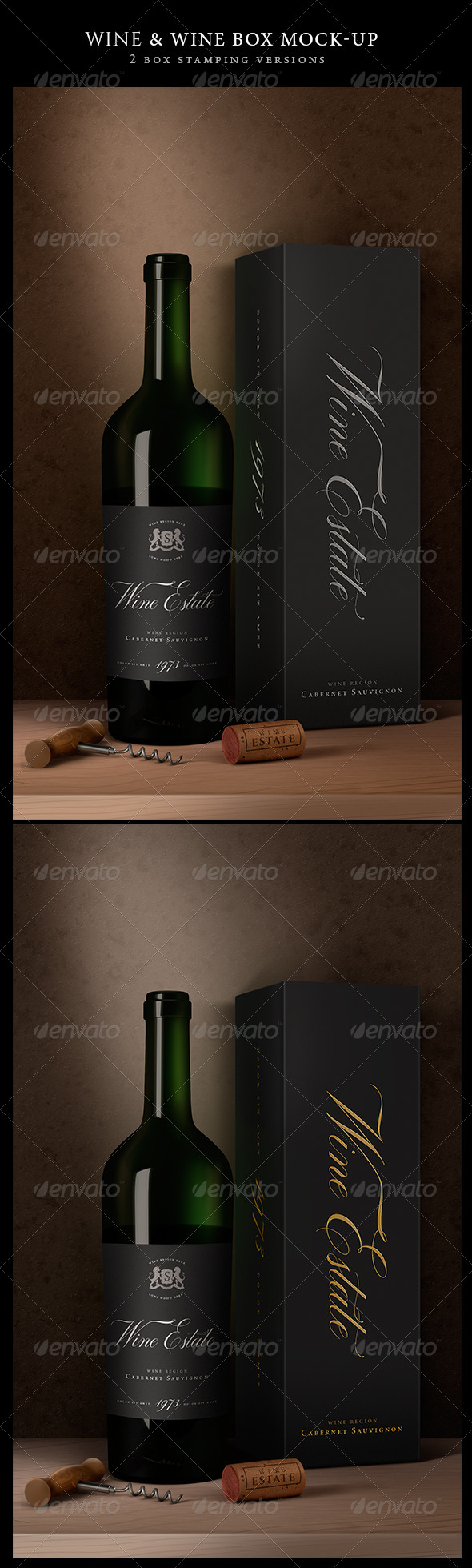Wine Packaging Artistic Mock-Up