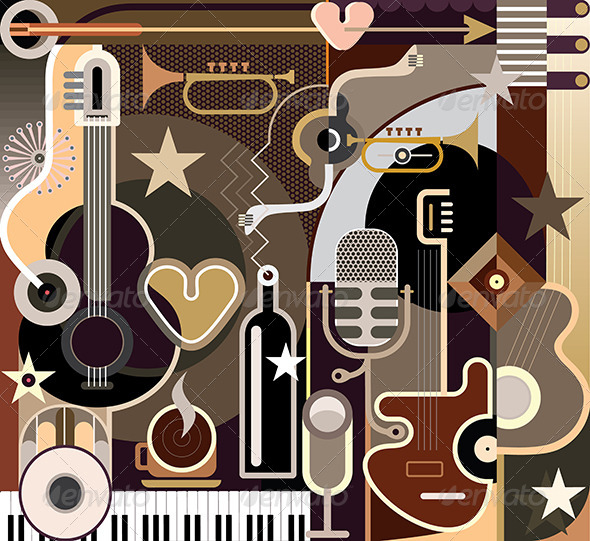 GraphicRiver Abstract Music 8094078
