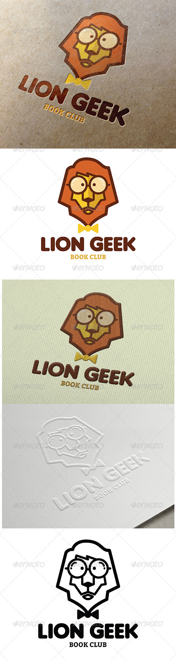 GraphicRiver Lion Geek Logo 8094108