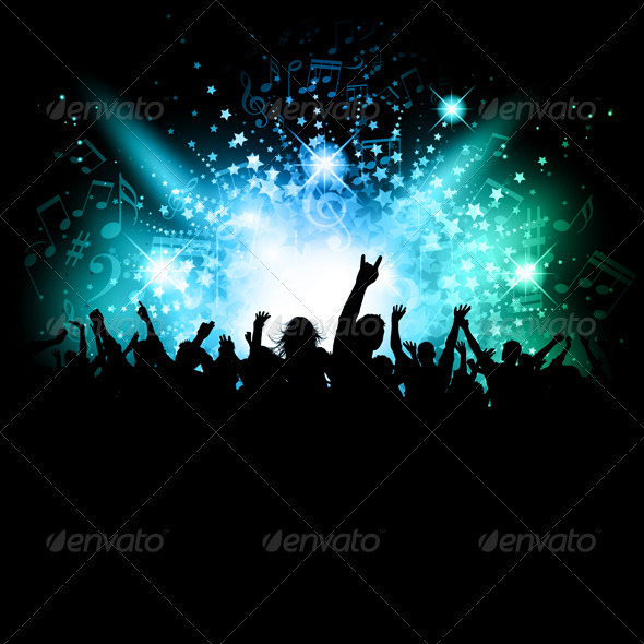 GraphicRiver Disco crowd background 827605