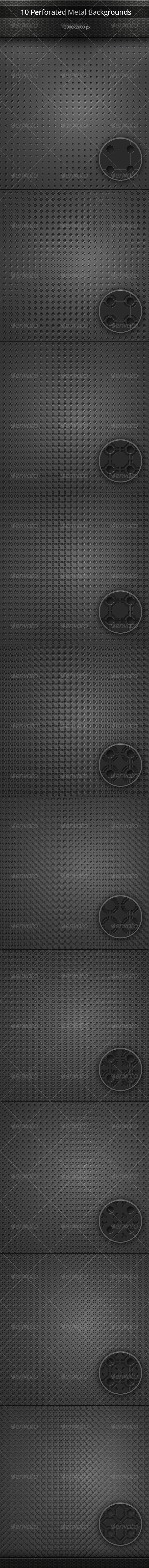 GraphicRiver Perforated Metal Backgrounds Set 8094526