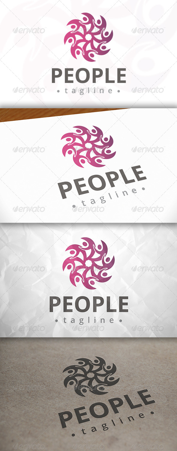 GraphicRiver People Logo 8094912