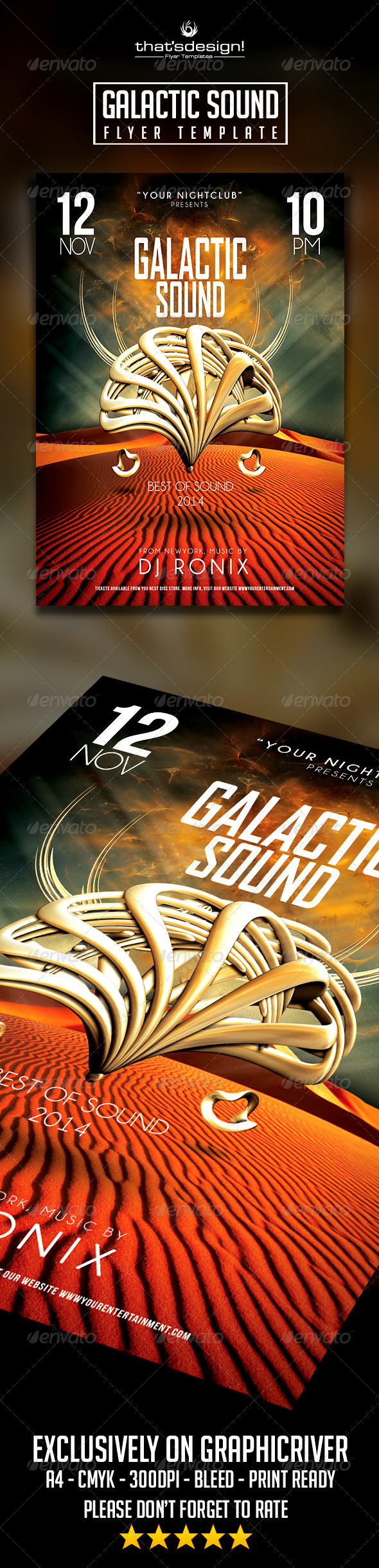 Galactic Sound Flyer - Clubs & Parties Events