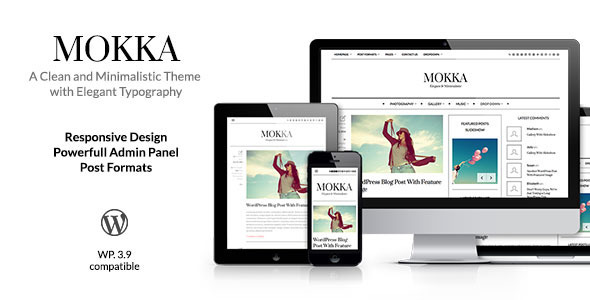 ThemeForest Mokka Minimal & Elegant WordPress Blog 8047638