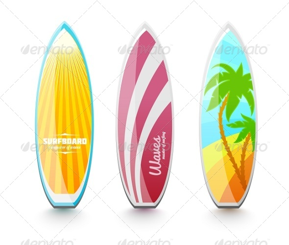GraphicRiver Surfboards For Surfing 8095512