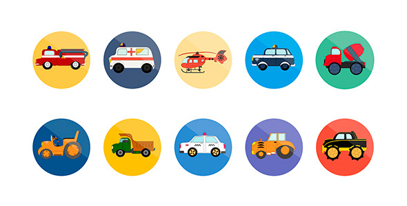10 Animated Transport Icons