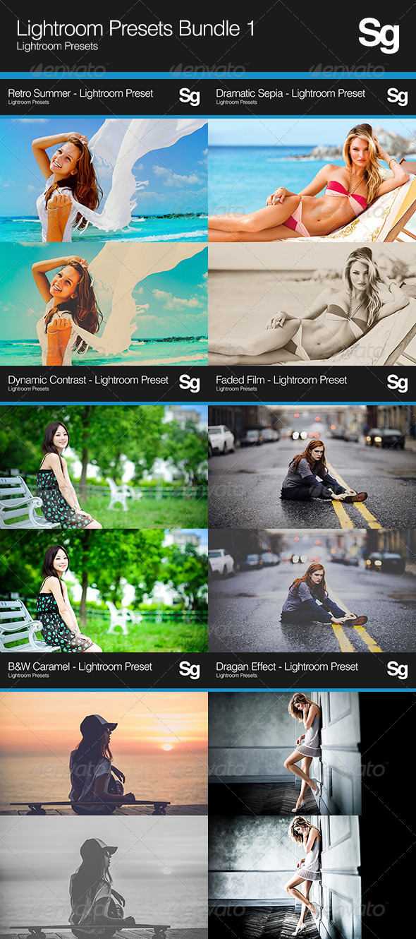 GraphicRiver Lightroom Presets Bundle 1 8095815