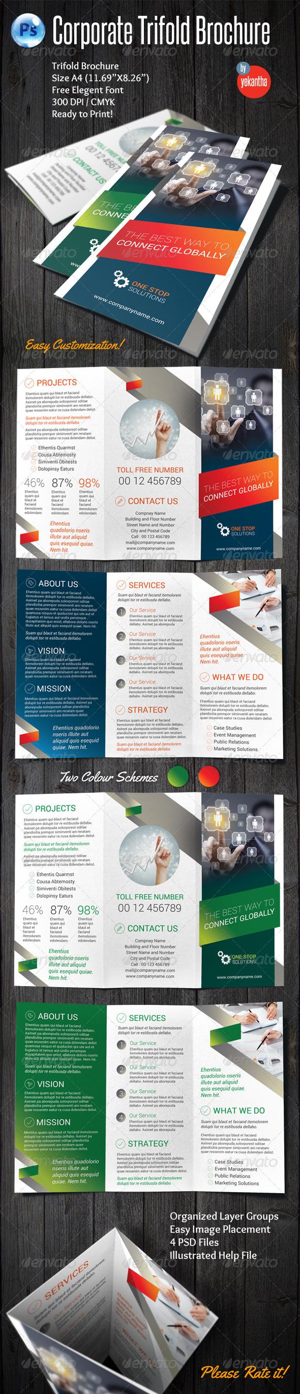 GraphicRiver Corporate Trifold Brochure 8095844