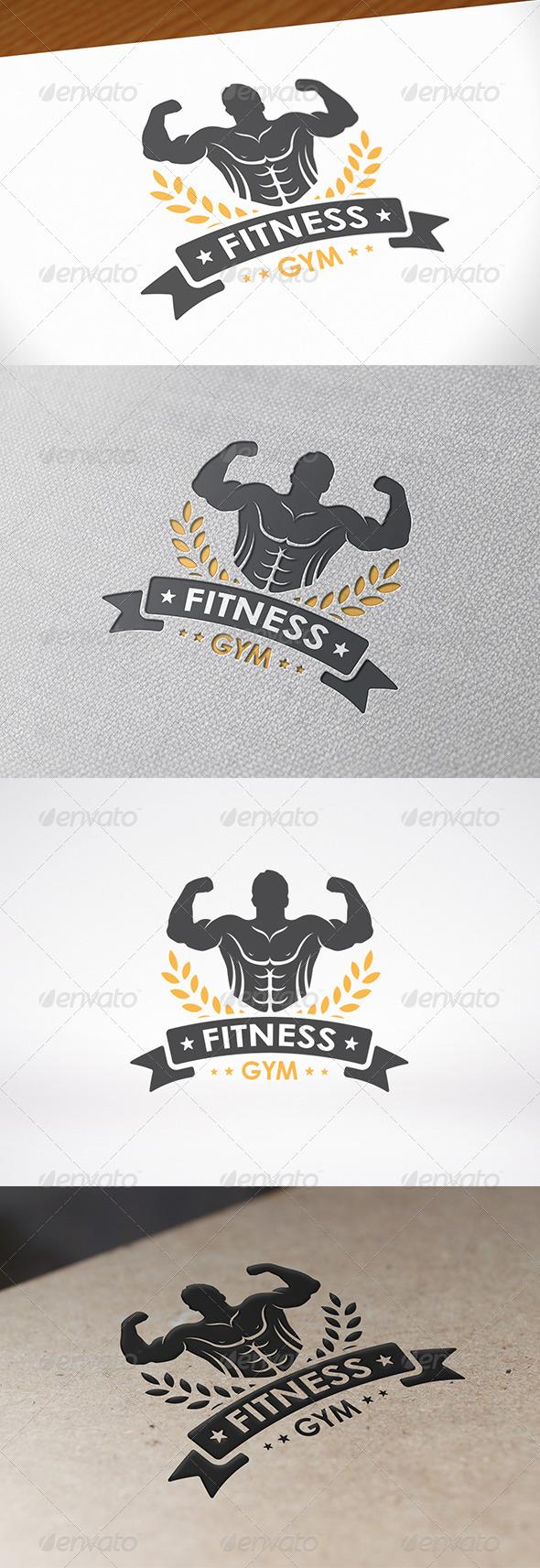 GraphicRiver Power Gym Logo Template 8095851